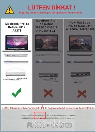 """Mcstorey MacBook Pro A1278 13.3"""" Kılıf Kapak Koruyucu Ruberized Hard Incase Mat Bordo"""